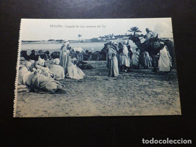 TETUÁN MARRUECOS ESPAÑOL LLEGADA DE UNA CARAVANA DEL SUR (Postales - Postales Temáticas - Ex Colonias y Protectorado Español)
