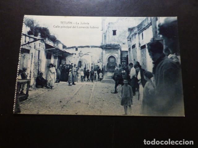 TETUÁN MARRUECOS ESPAÑOL LA JUDERIA CALLE PRINCIPAL DEL COMERCIO HEBREO (Postales - Postales Temáticas - Ex Colonias y Protectorado Español)