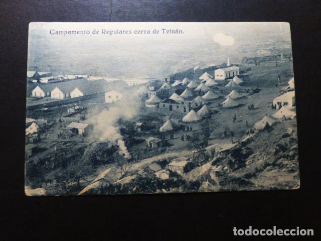 CAMPAMENTO DE REGULARES CERCA DE TETUAN (Postales - Postales Temáticas - Ex Colonias y Protectorado Español)