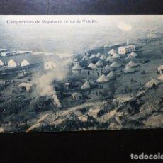 Postales: CAMPAMENTO DE REGULARES CERCA DE TETUAN. Lote 287431958