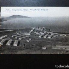 Postales: NADOR CAMPAMENTO MILITAR AL FONDO EL ATALAYON. Lote 287432903