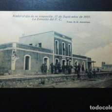 Postales: NADOR EL DIA DE SU OCUPACION ESTACION DEL FERROCARRIL. Lote 287434183