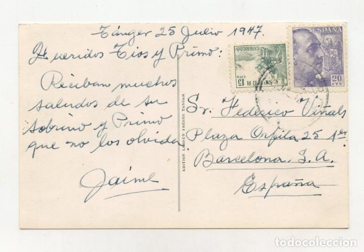 Postales: Postal de TANGER (Marruecos) Edit. Lebrun Frères (Circulada 1947) - Foto 2 - 288995443