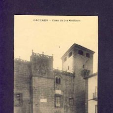 Postales: POSTAL DE CACERES: CASA DE LOS GOLFINES (ED.MC). Lote 5246126