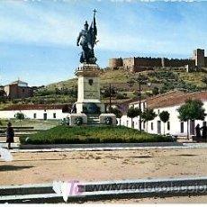 Postales: TARJETA POSTAL. BADAJOZ. MEDELLIN. MONUMENTO A HERNAN CORTÉS Y CASTILLO. Lote 5471921
