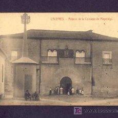 Postales: POSTAL DE CACERES: PALACIO DE LA CONDESA DE MAYORALGO (ED.VDA.DE MANUEL CILLEROS) (ANIMADA). Lote 7237544