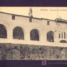 Postales: POSTAL DE CACERES: SANTUARIO DE LA MONTAÑA (ED.VDA.DE MANUEL CILLEROS) (ANIMADA). Lote 7237564