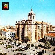 Postales: POSTAL DE DON BENITO Nº4, BADAJOZ, VISTA DE LA PLAZA ESPAÑA E IGLESIA DE SANTIAGO. Lote 7417127