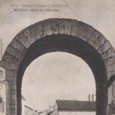 Postales: POSTAL DE MERIDA Nº2 ARCO DE TRAJANO COLECCION BACCONI Y DIEZ. Lote 9358421