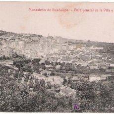 Postales: MONASTERIO DE GUADALUPE.-VISTA DE LA VILLA Y MONASTERIO.EDIT.THOMAS. Lote 9572728