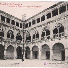 Postales: MONASTERIO DE GUADALUPE.CLAUSTRO GÓTICO DE LAS ENFERMERAS.EDIT.THOMAS. NO CIRCULADA. Lote 9572755