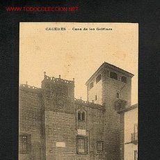 Postales: POSTAL DE CACERES: CASA DE LOS GOLFINES(ED.MC). Lote 1846414