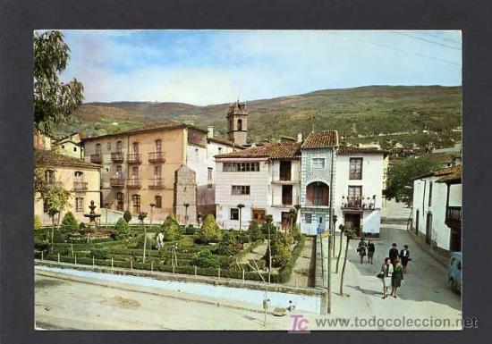 BAÑOS DE MONTEMAYOR. *JARDINES DE HERNÁN CORTÉS* CIRCULADA BAÑOS 1966 (Postales - España - Extremadura Moderna (desde 1940))