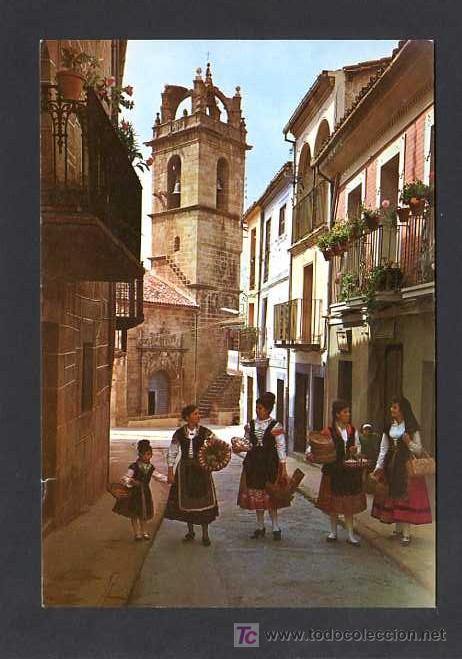 BAÑOS DE MONTEMAYOR. *PARROQUIA DE SANTA MARIA* CIRCULADA BAÑOS 1980 (Postales - España - Extremadura Moderna (desde 1940))