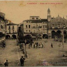 Postales: PLASENCIA(CÁCERES).-PLAZA DE LA REINA VICTORIA. Lote 15161521