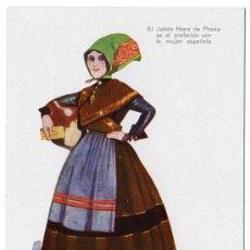 Postales: BONITA POSTAL - CACERES - MUJER CON TRAJE REGIONAL - PUBLICIDAD DE JABON HENO DE PRAVIA. Lote 18847660
