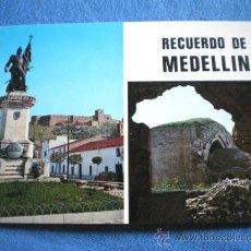 Postales: POSTAL BADAJOZ MEDELLIN MONUMENTO HERNAN CORTES Y TEATRO ROMANO NO CIRCULADA. Lote 16788685
