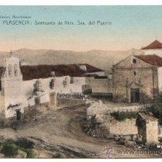 Postales: PLASENCIA. SANTUARIO DE NTRA. SRA. DEL PUERTO. PAPELERÍAS HONTIVEROS. ESCRITA, SIN CIRCULAR.. Lote 27580474