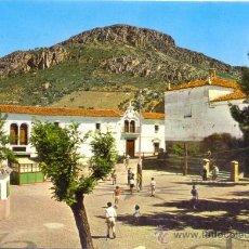 Postales: TARJETA POSTAL DE HORNACHOS PLAZA DE ESPAÑA Y ERMITA DE SAN ROQUE BADAJOZ. Lote 18548981