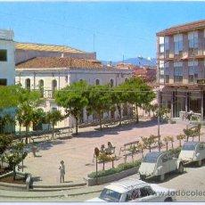 Postales: TARJETA POSTAL DE MIAJADAS PLAZA DE ESPAÑA CACERES. Lote 18572872