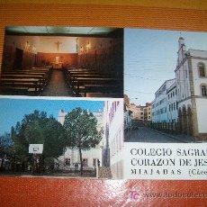 Postales: POSTAL DE MIAJADAS ( CÁCERES ), COLEGIO SAGRADO CORAZÓN DE JESÚS DEL AÑO 1983, SIN CIRCULAR. Lote 19104527