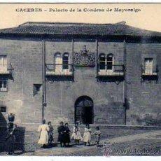 Postales: CÁCERES. PALACIO DE LA CONDESA DE MAYORALGO. ED M.C. J. BIENAIME. REIMS. CIRCULADA.. Lote 20016734