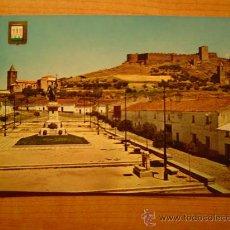 Postales: POSTAL MEDELLIN (BADAJOZ) MONUMENTO A HERNAN CORTES Y CASTILLO SIN CIRCULAR. Lote 21101547