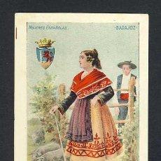 Postales: POSTAL ILUSTRADA: SERIE MUJERES ESPAÑOLAS: MUJER DE BADAJOZ (ED.CALLEJA NUM.6, 106). Lote 22839585
