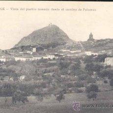 Postales: ALANGE (BADAJOZ).- VISTA DEL PUEBLO TOMADA DESDE EL CAMINO DE PALOMAS. Lote 23101211