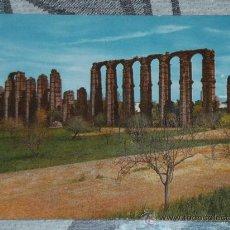 Postales: POSTAL DE MÉRIDA (BADAJOZ) AÑOS 60. ACUEDUCTO. Lote 24691314
