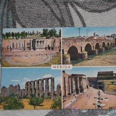Postales: POSTAL DE MÉRIDA (BADAJOZ) AÑOS 60. MONUMENTOS. Lote 24691560