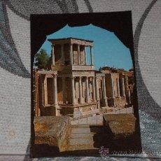 Postales: POSTAL DE MÉRIDA (BADAJOZ) AÑOS 60. TEATRO ROMANO. Lote 24691690