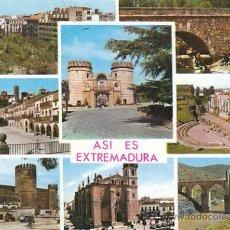 Postales: EXTREMADURA, DIVERSAS VISTAS, CIRCULADA EN 1967 (VER DORSO). Lote 26129625