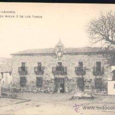 Postales: BROZAS (CÁCERES).- PLAZA NUEVA O DE LOS TOROS. Lote 26560613