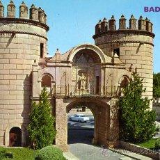 Postales: BADAJOZ Nº 221 PUERTA PALMA ESCRITA CIRCULADA CON SELLO EDICIONES PARÍS AÑO 1980. Lote 27144447