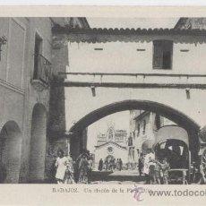 Postales: BADAJOZ. UN RINCÓN DE LA PLAZA ALTA. AÑOS 1930.. Lote 27315116