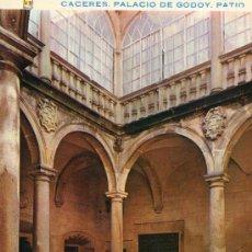 Postales: CÁCERES Nº 55 PALACIO DE GODOY PATIO ESCRITA CIRCULADA SELLO EDICIONES PERGAMINO. Lote 27453012
