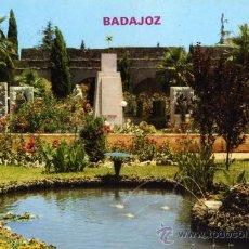 Postales: BADAJOZ Nº 784 PARQUE DE LA LEGIÓN JARDINES EDICIONES PARÍS ESCRITA CIRCULADA SELLO. Lote 27587977