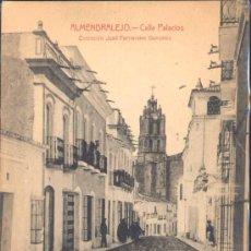 Postales: ALMENDRALEJO (BADAJOZ).- CALLE PALACIOS. Lote 28086255