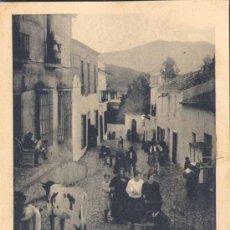 Postales: ALANGE (BADAJOZ).- CALLE DEL BAÑO Y ENTRADA AL BALNEARIO. Lote 28086287