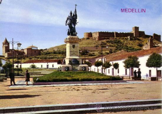 ESPAÑA. T. P. Nº 2007. MEDELLIN (BADAJOZ). MONUMENTO A HERNÁN CORTÉS Y CASTILLO. NUEVA. (Postales - España - Extremadura Moderna (desde 1940))
