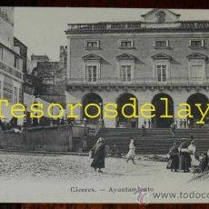 Postales: ANTIGUA POSTAL DE CACERES, AYUNTAMIENTO - EJG. PARIS-IRUN - SIN CIRCULAR Y SIN DIVIDIR. Lote 29278942