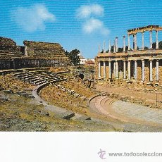 Postales: VISTA PARCIAL DEL TEATRO ROMANO DE MERIDA (BADAJOZ). BONITA POSTAL DE EDICIONES ARRIBAS SIN CIRCULAR. Lote 29676145