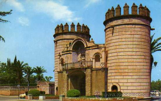 BADAJOZ Nº 82 PUERTA DE PALMAS EDICIONES ARRIBAS ESCRITA CIRCULADA SELLO (Postales - España - Extremadura Moderna (desde 1940))