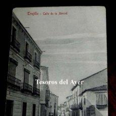 Postales: ANTIGUA POSTAL DE TRUJILLO, CALLE DE LA MERCED, N. 8, CACERES, ED. A. DURAN, TRUJILLO, NO CIRCULADA.. Lote 30605530