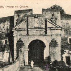 Postales: OLIVENZA (BADAJOZ) PUERTA DEL CALVARIO. Lote 31136933