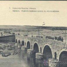 Postales: MÉRIDA (BADAJOZ).- PUENTE ROMANO SOBRE EL RIO GUADIANA. Lote 34229710