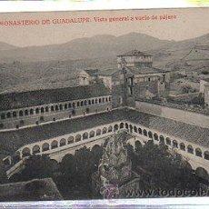Postales: TARJETA POSTAL DE MONASTERIO DE GUADALUPE - VISTA GENERAL A VUELO DE PAJARO. 543. THOMAS. Lote 35240506