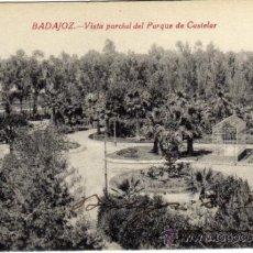 Postales: BONITA POSTAL - BADAJOZ - VISTA PARCIAL DEL PARQUE DE CASTELAR . Lote 35458022