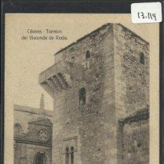 Postales: CACERES - TORREON DEL VIZCONDE DE RODA - EDICION EULOGIO BLASCO- (13.114). Lote 35661996